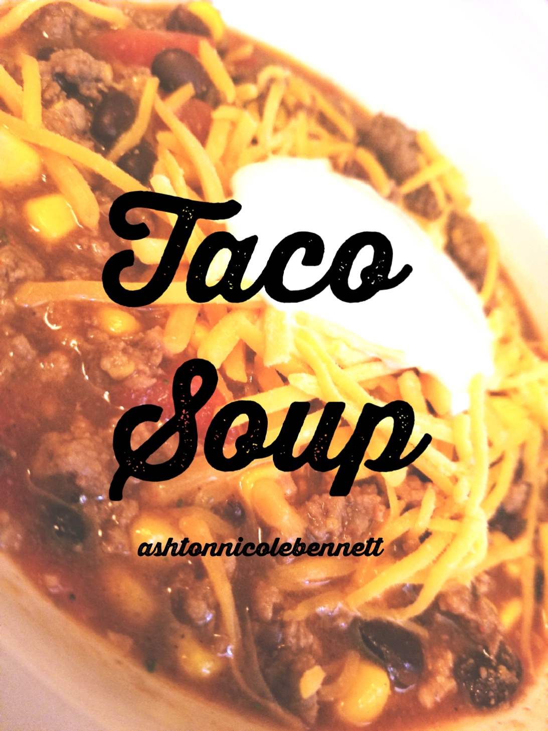 This quick and easy taco soup is great for any week night!
